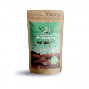 Vliss mint chocolate vegan instant hot chocolate pouch